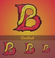 Halloween decorative alphabet - B letter vector image vector image