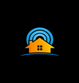 house radar security logo vector image vector image