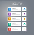 icon leader set of tribune coach portfolio and vector image