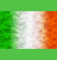 ireland flag polygonal vector image