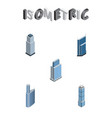 isometric building set of apartment residential vector image vector image