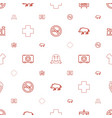 line icons pattern seamless white background vector image vector image