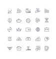 line icons set investment pack batch vector image