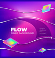 liquid color background design square fluid vector image vector image