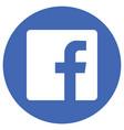 logo facebook vector image