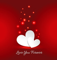love you forever card vector image vector image