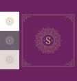 luxury logo template vintage flourishes vector image