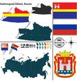 Map of Oblast of Kaliningrad vector image vector image