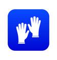 medical gloves icon digital blue vector image