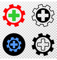 medical service gear eps icon with contour vector image vector image