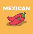 mexican food design vector image