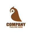 modern bird owl logo vector image vector image