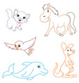 of a cartoon animals vector image vector image