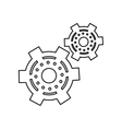 pictogram two gear wheel engine cog icon vector image