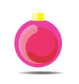pink christmas ball vector image