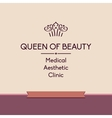 Queen of beauty Logo for aesthetic medicine vector image