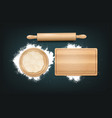 realistic baking background vector image vector image
