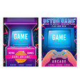 retro gaming game 80s-90s arcade machine vector image vector image