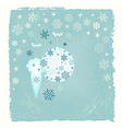 Retro New Year card with snowflakes vector image vector image