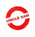 rubber ink stamp uncle sam vector image vector image