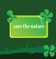 save the nature art vector image vector image