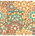 Seamless colorful ethnic pattern with mandala vector image vector image