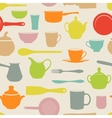 Seamless dishes vector image