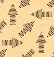Seamless pattern with vintage arrows made of stars vector image