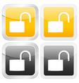 square icon padlock open vector image vector image
