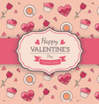 st valentines card template vector image vector image