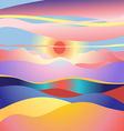 stok vector landscape sun vector image vector image