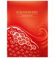 strawberry juice splash vector image
