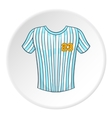 Striped baseball shirt icon cartoon style vector image vector image