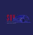 suv car logo on dark background vector image