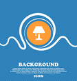 Table lamp Icon sign Blue and white abstract vector image