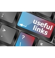 useful links keyboard button - business concept vector image vector image