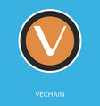 vechain icon of 3 types color black and white vector image vector image