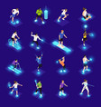 vr sports isometric icons vector image vector image