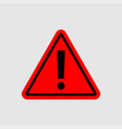 warning - icon warning red sign vector image