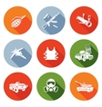 Weapons Icons Set vector image vector image