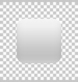 white realistic blank app icon button template vector image