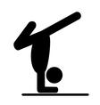 Yoga balance asana people pictogram flat icon vector image vector image