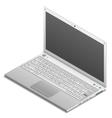 Isometric laptop isolated on white vector image