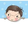 Greeting card cute Cartoon Boy vector image