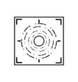 line gun sight circle with shooting focus vector image