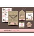 set of wedding cards wedding invitations vector image