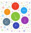 7 rake icons vector image vector image
