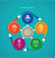 abstract 5 steps infographic template in flat vector image vector image