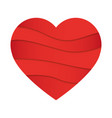 abstract heart shape love concep vector image