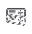 airline tickets line icon concept airline tickets vector image vector image
